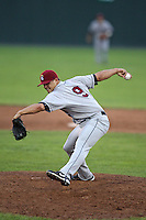 Mahoning Valley Scrappers pitcher Dale Dickerson (9) delivers a pitch during a game vs. the Batavia Muckdogs at Dwyer Stadium in Batavia, New York June 28, 2010.   Batavia defeated Mahoning Valley 11-3.  Photo By Mike Janes/Four Seam Images