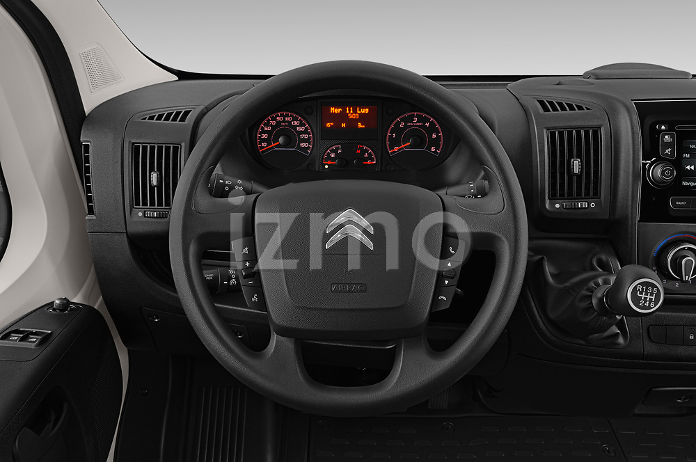 Car pictures of steering wheel view of a 2019 Citroen Jumper - 4 Door Chassis Cab Steering Wheel