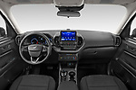 Stock photo of straight dashboard view of 2021 Ford Bronco-Sport Base 5 Door SUV Dashboard