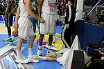 Real Madrid´s Rudy Fernandez retires injured during 2014-15 Liga Endesa match between Real Madrid and Unicaja at Palacio de los Deportes stadium in Madrid, Spain. April 30, 2015. (ALTERPHOTOS/Luis Fernandez)
