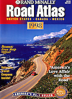 "Cover of ""Rand McNally ROAD ATLAS"" for 1998 with an Image of California's Big Sur Coast."