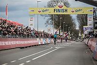 Victory for Michael Valgren Andersen (DEN/Astana). <br /> <br /> 53th Amstel Gold Race (1.UWT)<br /> 1 Day Race: Maastricht > Berg en Terblijt (263km)