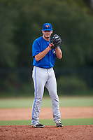 Toronto Blue Jays pitcher Zach Logue (67} gets ready to deliver a pitch during an Instructional League game against the Philadelphia Phillies on September 30, 2017 at the Carpenter Complex in Clearwater, Florida.  (Mike Janes/Four Seam Images)