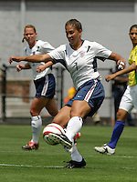 Shannon Boxx.US Women's National Team vs Brazil at Legion Field in Birmingham, Alabama.