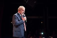 """Der ehemalige Praesident Brasiliens, Luiz Inacio Lula da Silva (im Bild) sprach am Dienstag den 10. Maerz 2020 in Berlin auf einer Veranstaltung der Friedrich Ebert Stiftung und der Gewerkschaft IG Metall vor ca. 600 Menschen. <br /> Sein Thema war """"Verteidigung der Demokratie in Brasilien"""".<br /> 10.3.2020, Berlin<br /> Copyright: Christian-Ditsch.de<br /> [NUR FUER REDAKTIONELLE ZWECKE! Werbung nur auf Anfrage beim Fotografen. Inhaltsveraendernde Manipulation des Fotos nur nach ausdruecklicher Genehmigung des Fotografen. Vereinbarungen ueber Abtretung von Persoenlichkeitsrechten/Model Release der abgebildeten Person/Personen liegen nicht vor. NO MODEL RELEASE! Don't publish without copyright Christian-Ditsch.de, Veroeffentlichung nur mit Fotografennennung, sowie gegen Honorar, MwSt. und Beleg. Konto: I N G - D i B a, IBAN DE58500105175400192269, BIC INGDDEFFXXX, Kontakt: post@christian-ditsch.de<br /> Bei der Bearbeitung der Dateiinformationen darf die Urheberkennzeichnung in den EXIF- und  IPTC-Daten nicht entfernt werden, diese sind in digitalen Medien nach §95c UrhG rechtlich geschuetzt. Der Urhebervermerk wird gemaess §13 UrhG verlangt.]"""