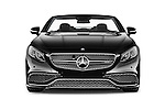 Car photography straight front view of a 2017 Mercedes Benz S-Class S65-AMG 2 Door Convertible Front View