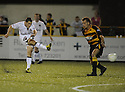 25/08/2009  Copyright  Pic : James Stewart.sct_jspa09_alloa_v_dundee_utd  .CRAIG CONWAY SHOOTS AT GOAL.James Stewart Photography 19 Carronlea Drive, Falkirk. FK2 8DN      Vat Reg No. 607 6932 25.Telephone      : +44 (0)1324 570291 .Mobile              : +44 (0)7721 416997.E-mail  :  jim@jspa.co.uk.If you require further information then contact Jim Stewart on any of the numbers above.........