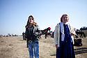"Mogila, Bulgaria--Mariika Koleva, left, with her mother, Elenka Jordanova on St. Todor's day. The Kalaidzhi held a meeting and Marijka said though she didn't have a fiance but she ""hoped to meet him"" at the bride market."