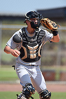 GCL Marlins catcher Blake Anderson (26) during practice before a game against the GCL Nationals on June 28, 2014 at the Carl Barger Training Complex in Viera, Florida.  GCL Nationals defeated the GCL Marlins 5-0.  (Mike Janes/Four Seam Images)
