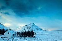 Buachaille Etive Beag and Lagangarbh Hut, Glencoe, Highland