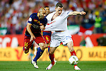 FC Barcelona's Javier Mascherano (l) and Sevilla CF's Kevin Gameiro during Spanish Kings Cup Final match. May 22,2016. (ALTERPHOTOS/Acero)