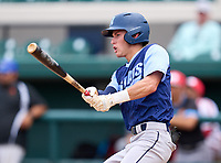 North Port Bobcats Ben Brown (18) during the 42nd Annual FACA All-Star Baseball Classic on June 5, 2021 at Joker Marchant Stadium in Lakeland, Florida.  (Mike Janes/Four Seam Images)
