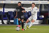Emre Can (Deutschland Germany) gegen Birkir Bjarnason (Island Iceland) - 25.03.2021: WM-Qualifikationsspiel Deutschland gegen Island, Schauinsland Arena Duisburg