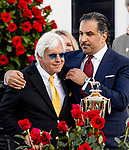 MAY 01, 2021:  Bob Baffert celebrates with owner Amr Zedan  after winning the Kentucky Derby at Churchill Downs in Louisville, Kentucky on May 1, 2021. EversEclipse Sportswire/CSM