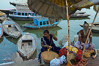 Sadhu at the River Ganges Varanasi India