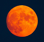 The August moon took on a deep orange color from all the NCal fires