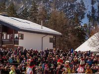 Aufzug der Masken beim Nassereither Schellerlauf, Fasnacht in Nassereith, Bezirk Imst, Tirol, Österreich, Europa, immaterielles UNESCO Weltkulturerbe<br /> gathering of the masks, Nassereither Schellerlauf-Fasnacht, Nassereith, Tyrol, Austria Europe, Intangible World Heritage