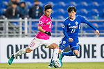 Kitchee Midfielder Huang Yang (L) in action during their AFC Champions League 2017 Playoff Stage match between Ulsan Hyundai FC (KOR) vs Kitchee SC (HKG) at the Ulsan Munsu Football Stadium on 07 February 2017 in Ulsan, South Korea. Photo by Chung Yan Man / Power Sport Images