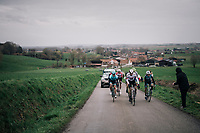 the day's breakaway up the Côte de Trieu / Knokteberg<br /> <br /> 71th Kuurne-Brussel-Kuurne 2019 <br /> Kuurne to Kuurne (BEL): 201km<br /> <br /> ©kramon