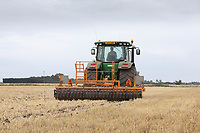 23.7.2020 Cultivating Barley stubble in South Lincolnshire  <br /> ©Tim Scrivener Photographer 07850 303986<br />      ....Covering Agriculture In The UK.