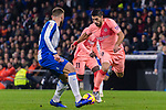 Luis Suarez of FC Barcelona (R) in action during the La Liga 2018-19 match between RDC Espanyol and FC Barcelona at Camp Nou on 08 December 2018 in Barcelona, Spain. Photo by Vicens Gimenez / Power Sport Images