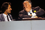 Liberal Party Conference Blackpool circa 1980 Cyril Smith MP and David Alton MP 1980s UK