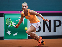 Bratislava, Slovenia, April 22, 2017,  FedCup: Slovakia-Netherlands, seccond rubber : Kiki Bertens (NED) <br /> Photo: Tennisimages/Henk Koster