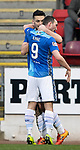 St Johnstone v Hamilton Accies…19.01.19…   McDiarmid Park    Scottish Cup 4th Round<br />Tony Watt celebrates his goal with Chris Kane<br />Picture by Graeme Hart. <br />Copyright Perthshire Picture Agency<br />Tel: 01738 623350  Mobile: 07990 594431
