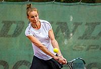 Hilversum, The Netherlands,  August 20, 2021,  Tulip Tennis Center, NKS, National Senior Tennis Championships, Women's doubles 50 + : Florentine Molkenboer-Schneider (NED)<br /> Photo: Tennisimages/Henk Koster