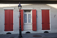 French Quarter, New Orleans, Louisiana.  Creole Cottage Style House.