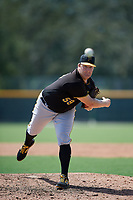 Pittsburgh Pirates relief pitcher Matt Eckelman (59) delivers a pitch during a Florida Instructional League game against the Detroit Tigers on October 2, 2018 at the Pirate City in Bradenton, Florida.  (Mike Janes/Four Seam Images)