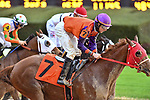 February 28, 2021: Someone Said So #7 , ridden by Jareth Loveberry in the Dixie Belle Stakes  at Oaklawn Park in Hot Springs,  Arkansas.  Ted McClenning/Eclipse Sportswire/CSM
