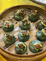 Yangzhou, Jiangsu, China.  Breakfast at Ye Chun Garden Tea House.  Jade Buns.