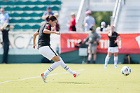 CARY, NC - SEPTEMBER 12: Christine Sinclair #12 of the Portland Thorns warms up before a game between Portland Thorns FC and North Carolina Courage at WakeMed Soccer Park on September 12, 2021 in Cary, North Carolina.