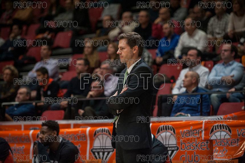 VALENCIA, SPAIN - December 2:  during EUROCUP match between Valencia Basket Club and Ratiopharm ULM at Fonteta Stadium on December 2, 2015