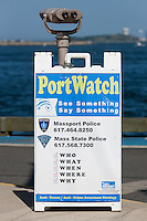 PortWatch sign at the Port of Boston, Boston, Massachusetts