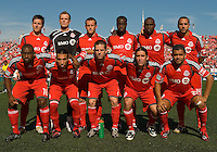 12 September 2009:The Toronto FC starting eleven during MLS action at BMO Field Toronto in a game between Colorado Rapids and Toronto FC. .Toronto FC won 3-2..
