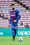 Gerard Pique Bernabeu of FC Barcelona in action during the La Liga 2017-18 match between FC Barcelona and Las Palmas at Camp Nou on 01 October 2017 in Barcelona, Spain. (Photo by Vicens Gimenez / Power Sport Images