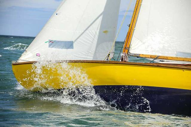 Glen Class OD revelling in Dublin Bay sailing. Dating from 1947, the class now show the signs of successfully emerging from limbo into classic status