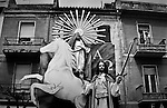 """Easter celebrations with the traditional """"tableau vivant"""" illustrating famous scenes from the bible in the small town of Orsogna in Abruzzo, Italy."""