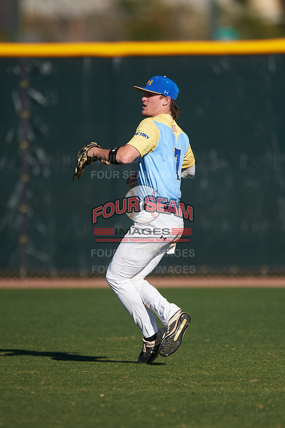 Matty Clark during the Under Armour All-America Tournament powered by Baseball Factory on January 19, 2020 at Sloan Park in Mesa, Arizona.  (Zachary Lucy/Four Seam Images)