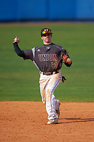 Union Dutchmen second baseman Anthony Amoroso (41) during a game against the Farmingdale Rams on March 21, 2016 at Chain of Lakes Stadium in Winter Haven, Florida.  Farmingdale defeated Union 17-5.  (Mike Janes/Four Seam Images)