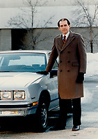 George Peapples, GM Canada president says the Quebec plant has problems<br /> <br /> 1986<br /> <br /> PHOTO : Boris Spremo - Toronto Star Archives - AQP