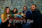 Hayley McMann, Claudia Pascali, Sean O'Donoghue and Jack Kilroy having a drink in Teach Beag on Monday