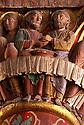 24/03/03 - ISSOIRE - PUY DE DOME - FRANCE - Detail d un chapiteau de La Basilique SAINT AUSTREMOINE - Photo Jerome CHABANNE