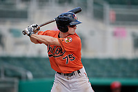 Baltimore Orioles Adam Hall (75) at bat during a Florida Instructional League game against the Boston Red Sox on September 21, 2018 at JetBlue Park in Fort Myers, Florida.  (Mike Janes/Four Seam Images)