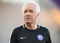 Orlando, FL - Saturday March 24, 2018: Orlando Pride head coach Tom Sermanni prior to a regular season National Women's Soccer League (NWSL) match between the Orlando Pride and the Utah Royals FC at Orlando City Stadium. The game ended in a 1-1 draw.