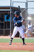 AZL Padres 1 left fielder Tyler Benson (30) at bat during an Arizona League game against the AZL Royals at Peoria Sports Complex on July 4, 2018 in Peoria, Arizona. The AZL Royals defeated the AZL Padres 1 5-4. (Zachary Lucy/Four Seam Images)