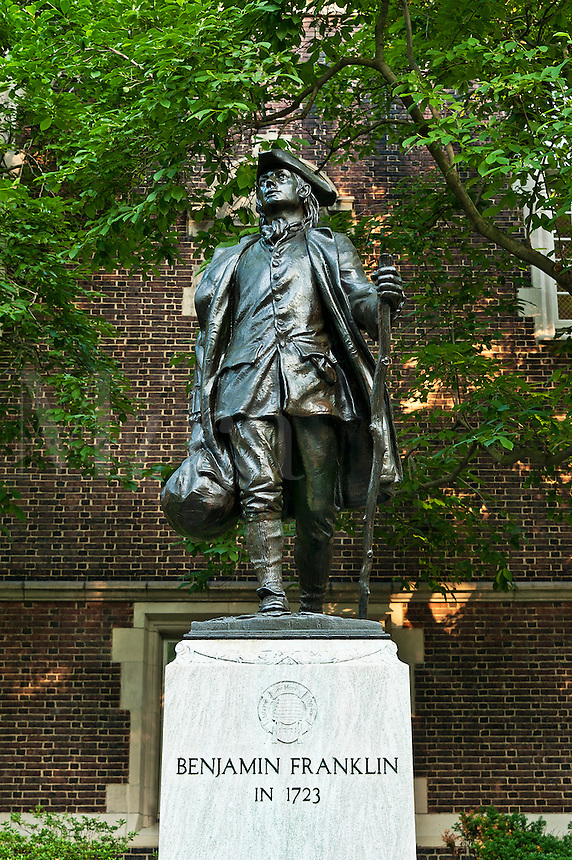 Ben Franklin sculpture at the University of Pennsylvania, Philadelphia, USA