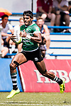 Naveen Hena Kankanamage of Sri Lanka runs in a try during the Asia Rugby U20 Sevens 2017 at King's Park Sports Ground on August 5, 2017 in Hong Kong, China. Photo by Yu Chun Christopher Wong / Power Sport Images